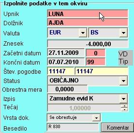 Obračun zamudnih obresti za neplačane račune